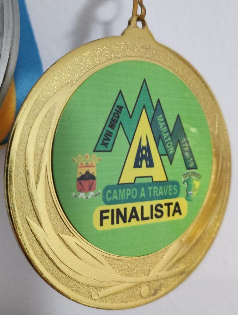 Medalla Media maratón de Arucas 2019