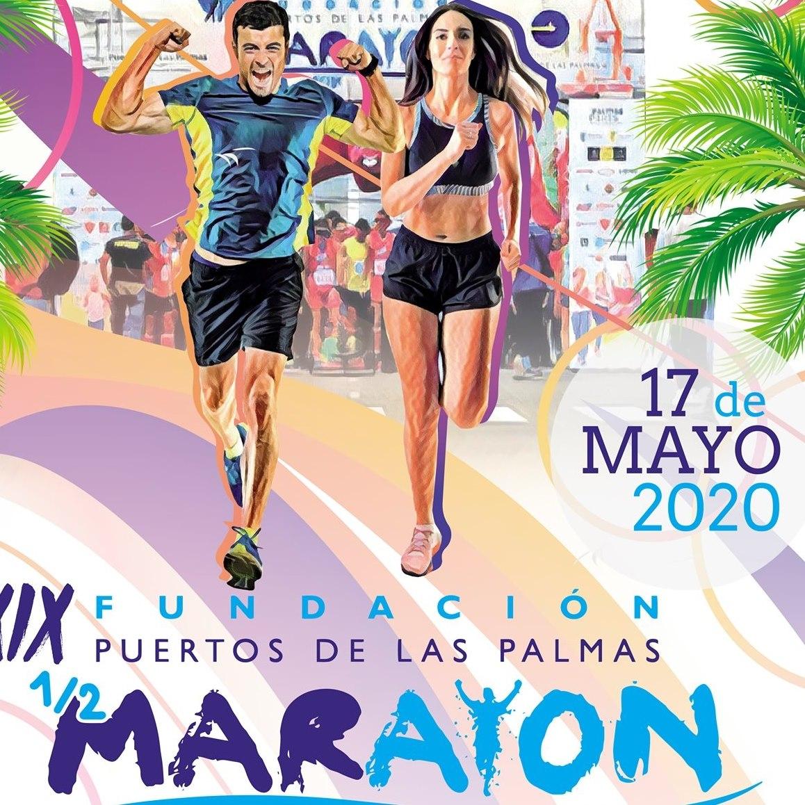 Cartel Media Maratón del Puerto 2020