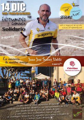 Cartel Entrenamiento y Caminata Solidarios B-Sporty