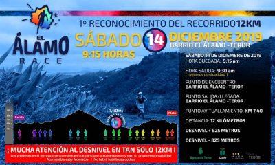 Cartel Reconocimiento Recorrido 12K Alamo Race 2020