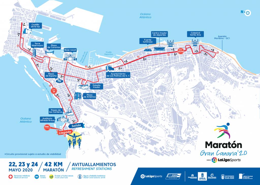 Recorrido Maratón de Gran Canaria 2020