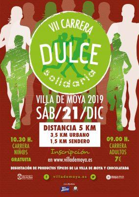 Cartel de la VII Carrera Dulce Solidaria Villa de Moya
