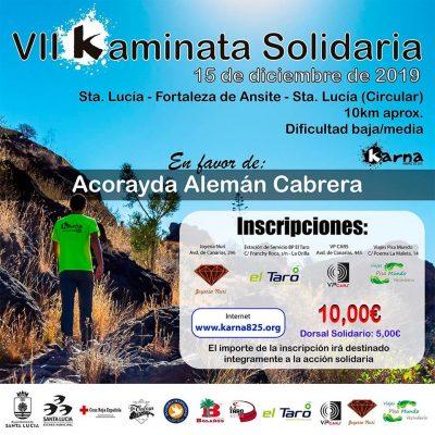 Cartel VII Kaminata Solidaria 2019