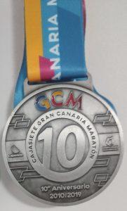 Medalla 10K Gran Canaria Maratón 2019