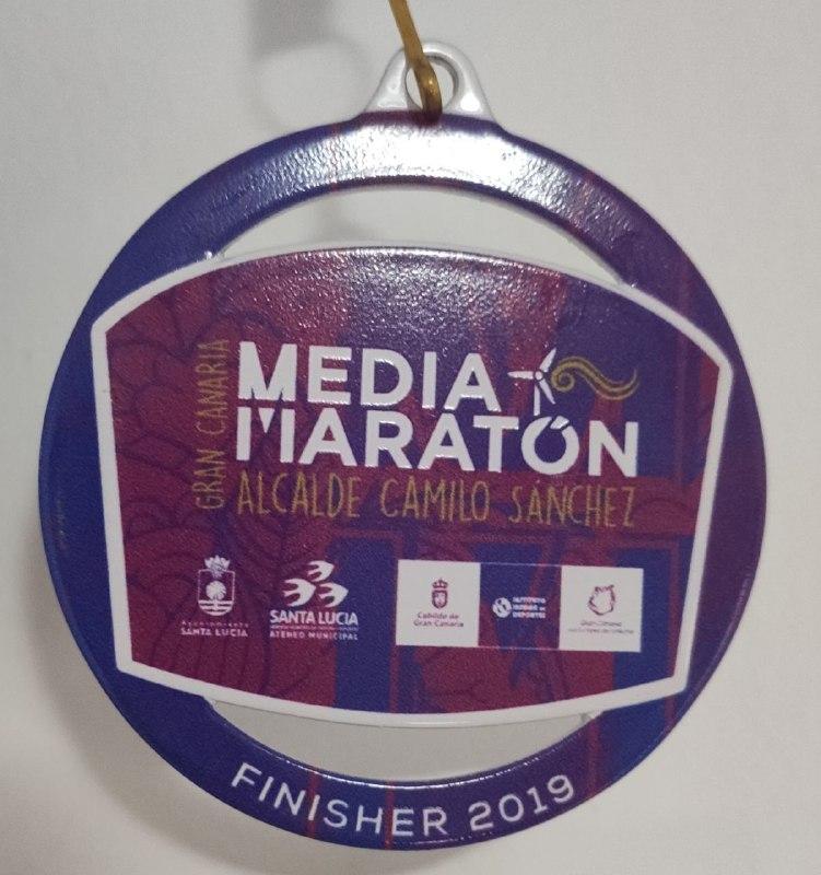 Medalla Gran Canaria media maratón 2019