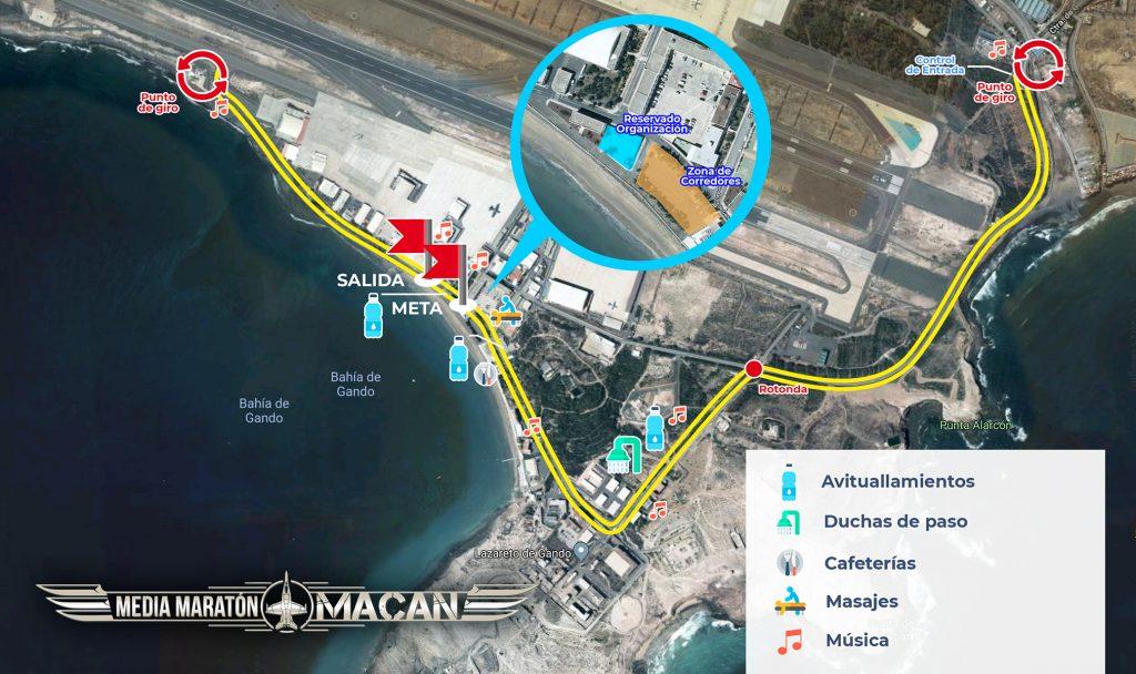 Recorrido Media Maratón Macan 2021