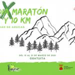 Cartel del Medio Maratón de Arucas 2021 Virtual