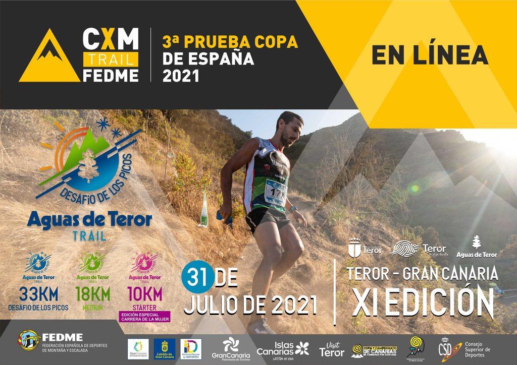 Cartel oficial de la Aguas de Teror Trail 2021 - Desafío los Picos