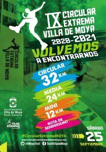 Cartel oficial de la Trail Circular Extrema Villa de Moya 2021