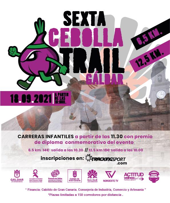 Cartel oficial de la Carrera Popular Cebolla Trail 2021