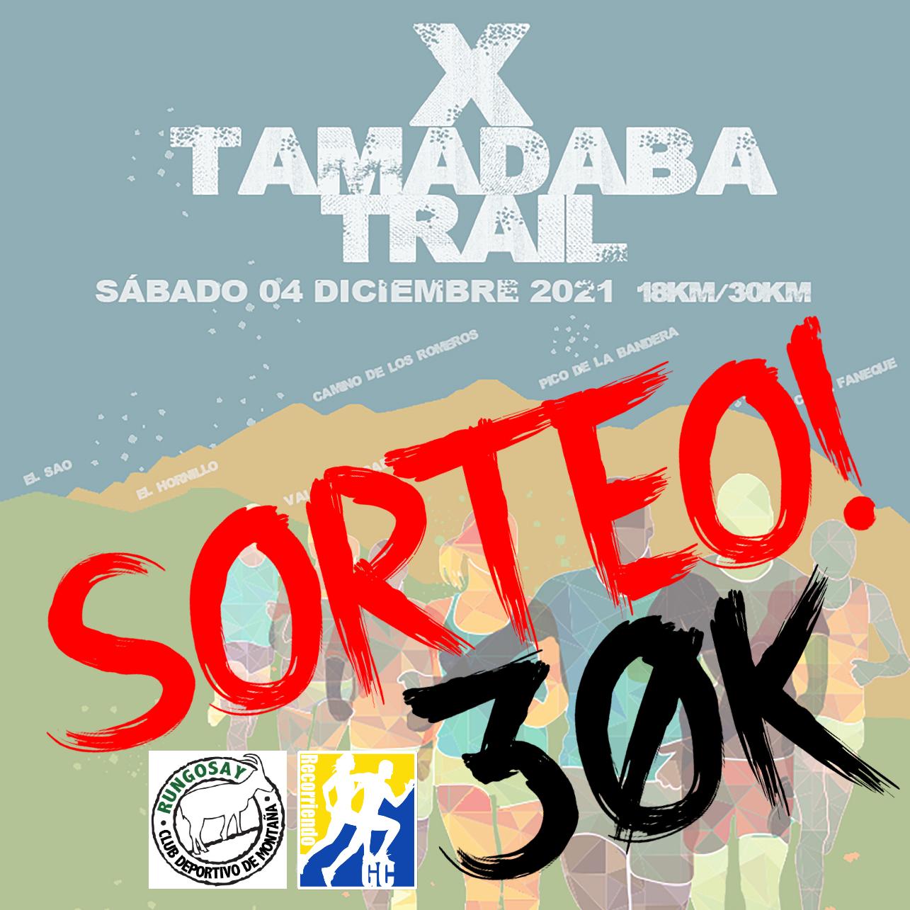 Sorteo a la Tamadaba Trail 2021
