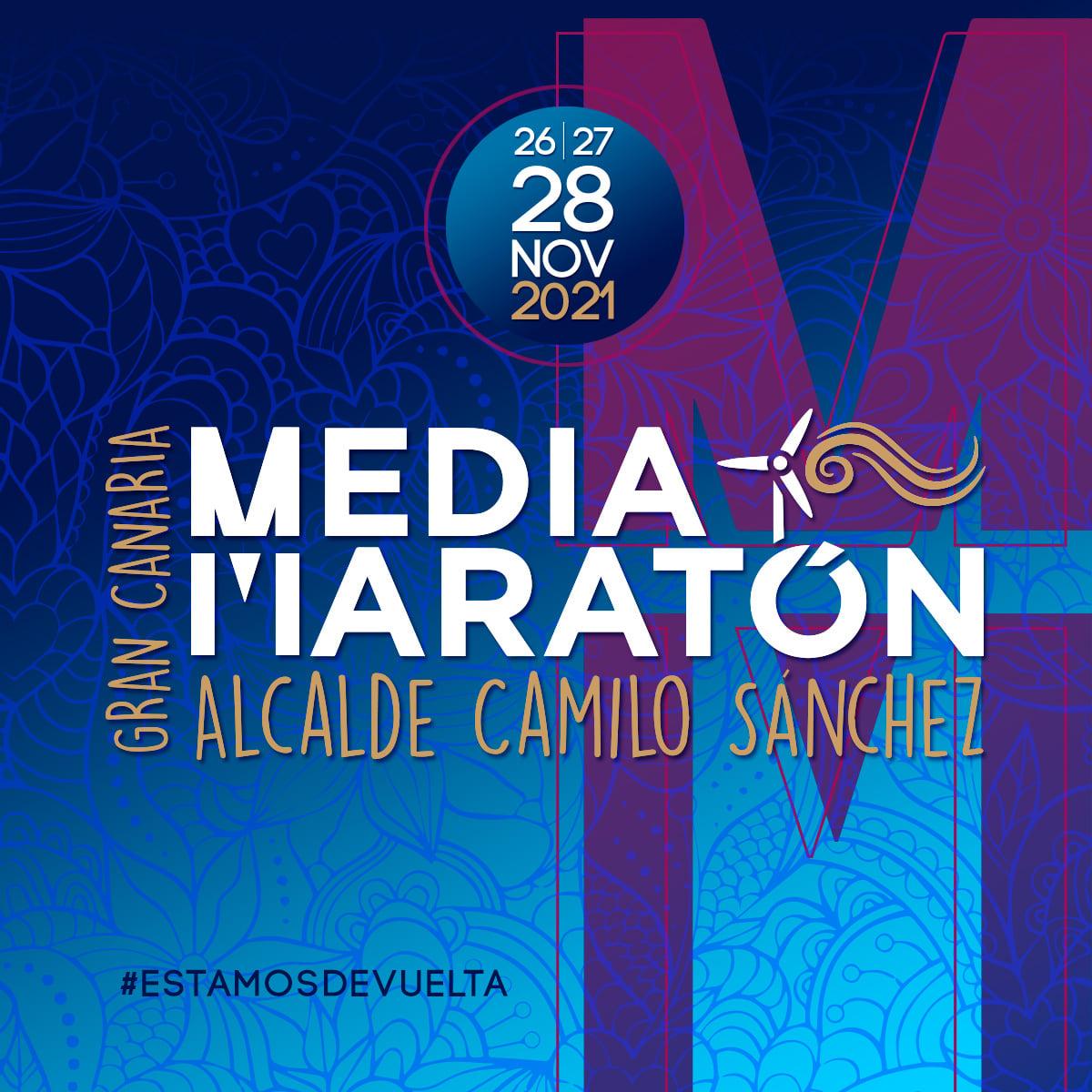 Logo Gran Canaria Media Maratón 2021