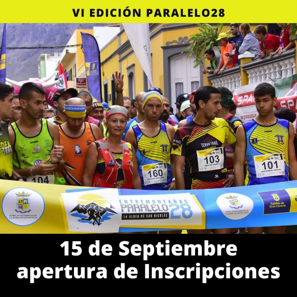 15 de septiembre apertura de inscripciones de la Paralelo28 Entremontañas 2021