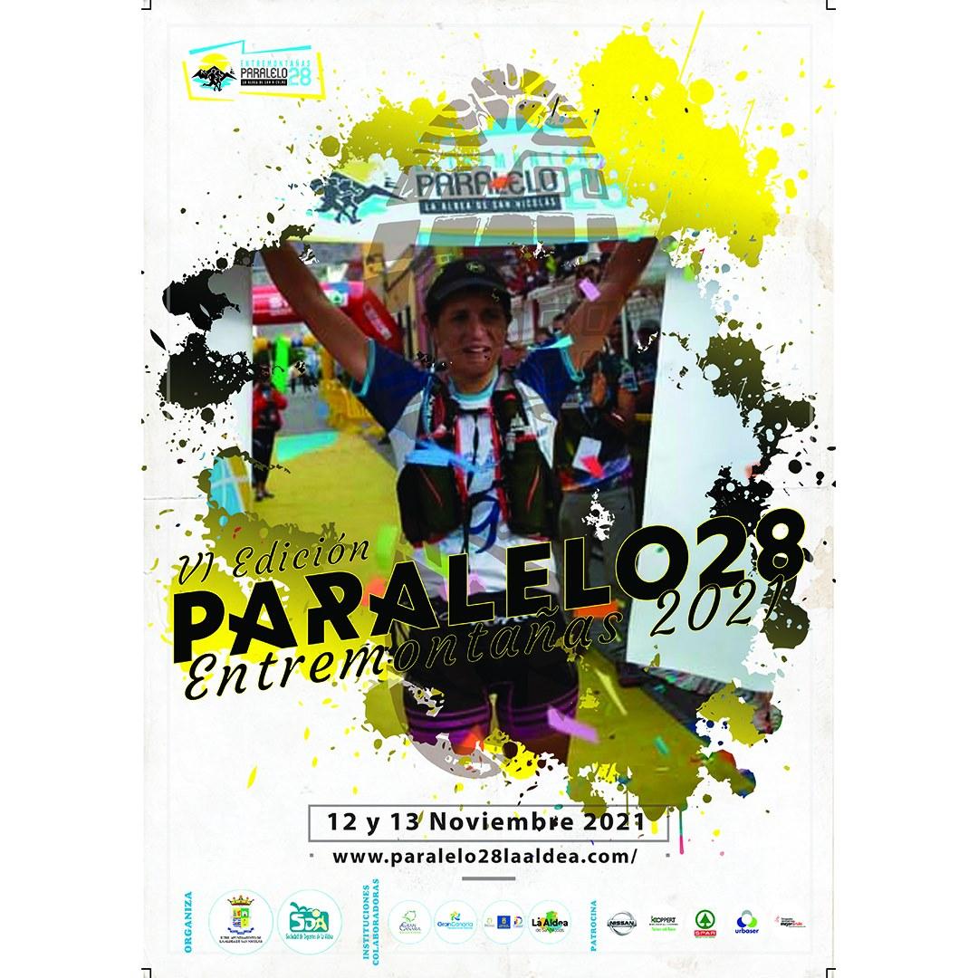 Cartel oficial de la sexta edición de la Paralelo28 Entremontañas 2021