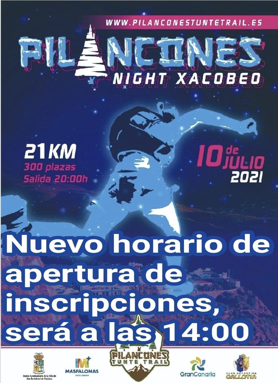 Cartel de la Pilancones Night Xacobeo 2021