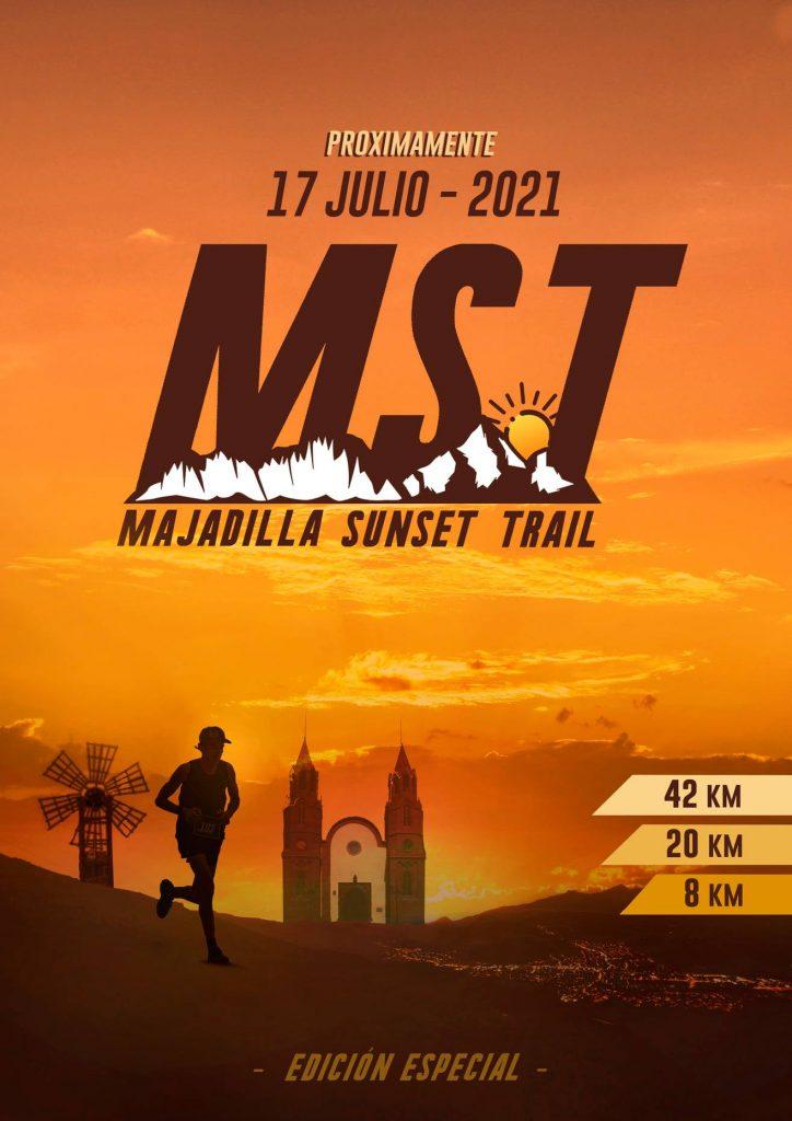 Cartel anunciante de la Majadilla Sunset Trail 2021