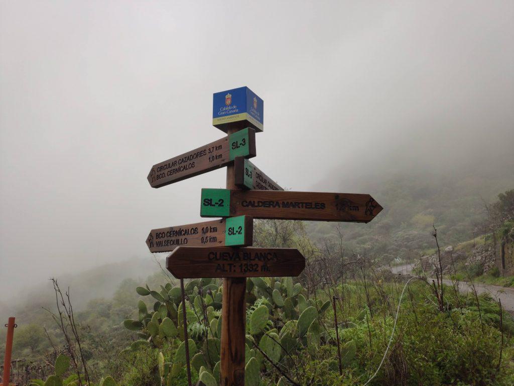 Cartel de señalización sendero Cicular de Cazadores