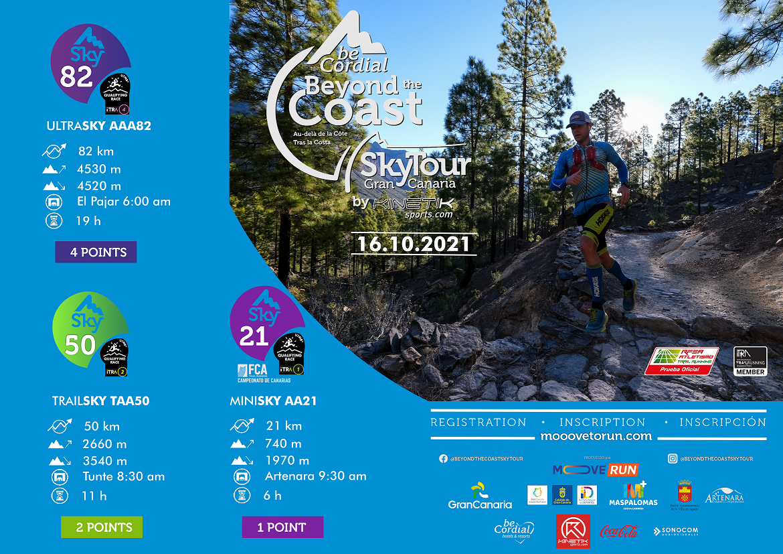 Cartel Oficial de la Sky Tour Gran Canaria 2021