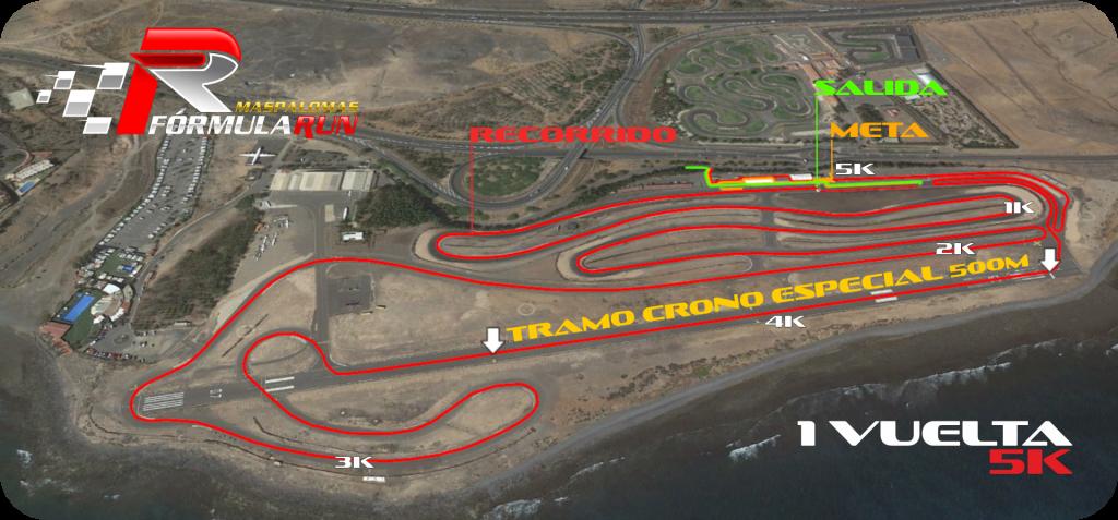 Recorrido Maspalomas Fórmula Run 5K