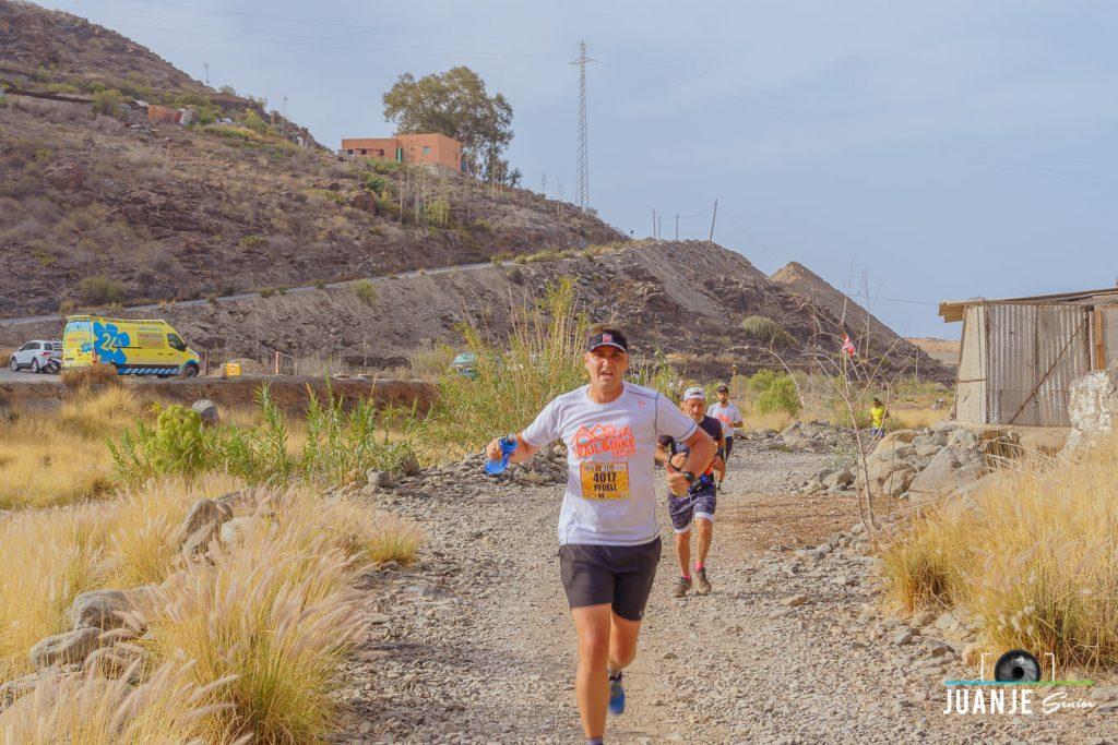 Foto subiendo Los Vicentes en la Trail & Bike Series 2021
