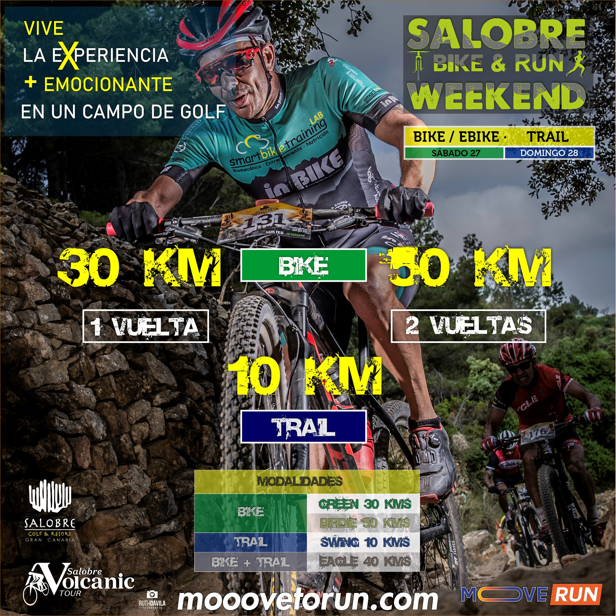Cartel oficial de la Salobre BIKE&RUN Weekend 2021