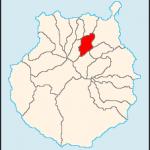Mapa que indica donde se encuentra Teror en la isla de Gran Canaria
