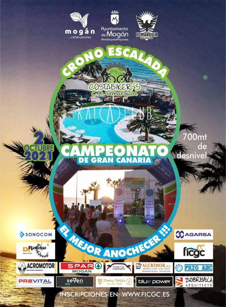 Cartel oficial de la Cronoescalada Subida a Cortadores 2021