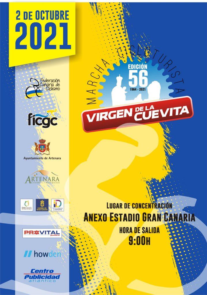 Cartel oficial de la Marcha Cicloturista Virgen de la Cuevita 2021